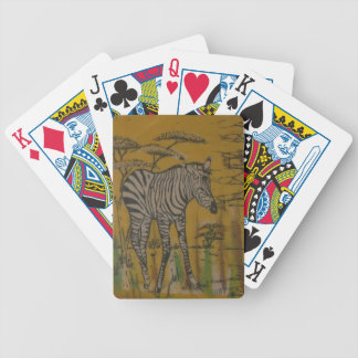 Wild Life Kenya African Safari Zebra png Poker Cards
