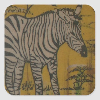 Wild Life Kenya African Safari Zebra.png Square Sticker