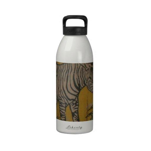Wild Life Kenya African Safari Zebra.png Water Bottles