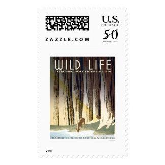 Wild Life National Park 1940 WPA Postage