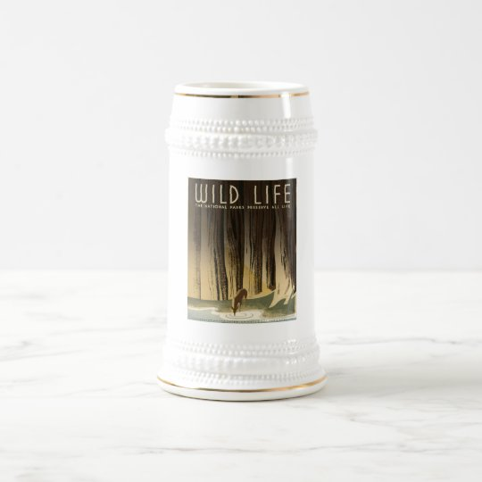 Wild Life National Parks Preserve All Life1940 Beer Stein