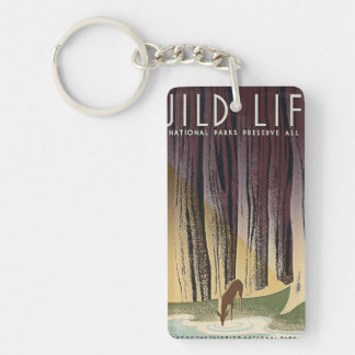 Wild Life - The National Parks preserve all Life. Keychain