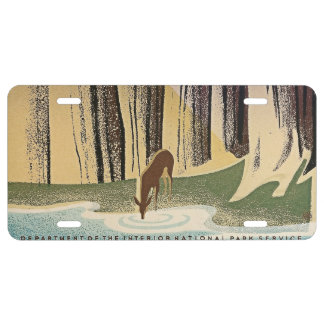 Wild Life - The National Parks preserve all Life. License Plate