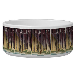 Wild Life - The National Parks preserve all Life. Pet Food Bowl