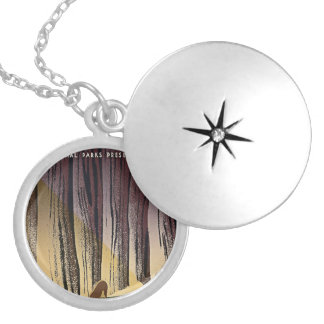 Wild Life - The National Parks preserve all Life. Round Locket Necklace