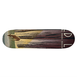 Wild Life - The National Parks preserve all Life. Skateboard Deck