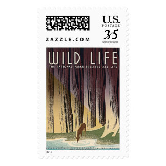 Wild Life - The National Parks preserve all Life. Stamp
