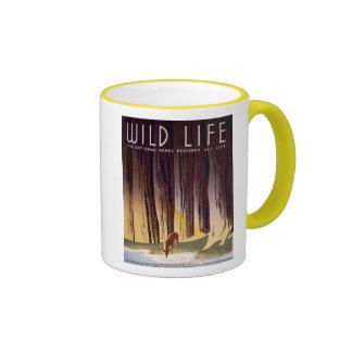 Wild life The National Parks Vintage WPA Ringer Coffee Mug