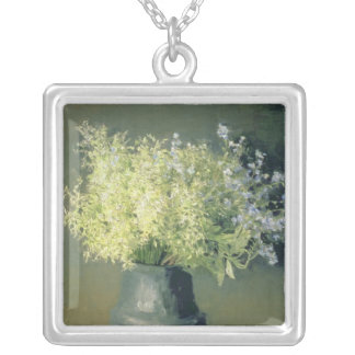 Wild Lilacs and Forget-Me-Nots, 1889 Silver Plated Necklace