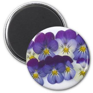 wild lillies 2 inch round magnet