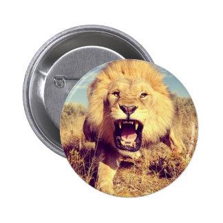 Wild Lion Pinback Button