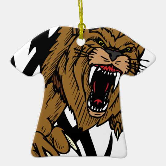 Wild Lion Ceramic Ornament