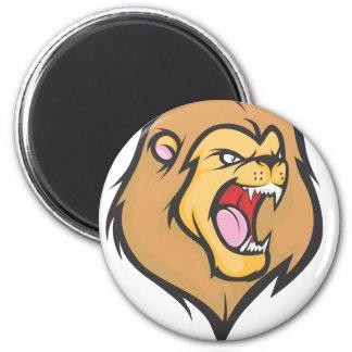Wild Lion Illustration 2 Inch Round Magnet