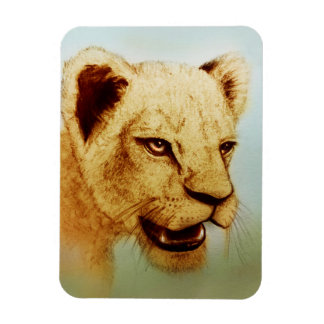 Wild Lion, Realistic Animal Art Photo Magnet