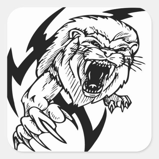 Wild Lion Square Sticker