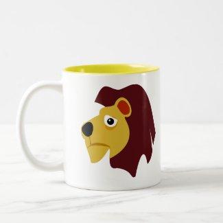 Wild Lion Two-Tone Coffee Mug