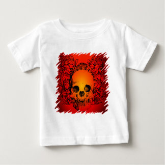 Wild Looking Tattoo Skull Baby T-Shirt