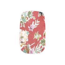 WILD LOVE Bold Red Floral Minx Nail Art