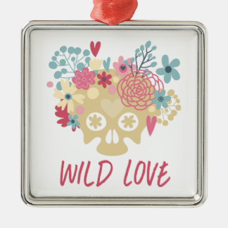 Wild Love Flowers Metal Ornament