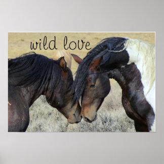 WILD LOVE HORSES POSTER