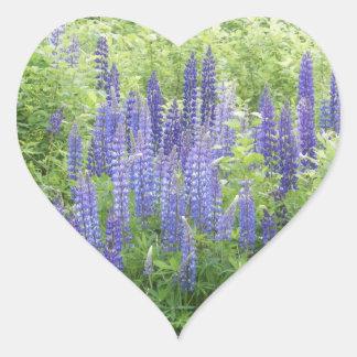 Wild Lupine Heart Sticker