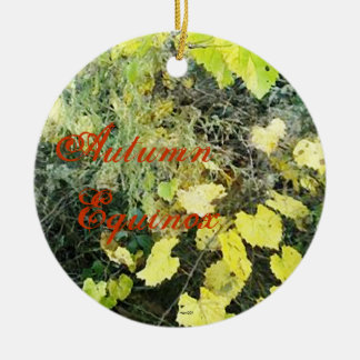 Wild Mabon Autumn Equinox Ceramic Ornament