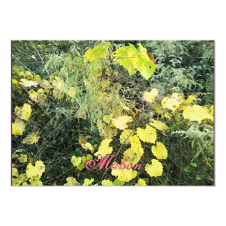 "Wild Mabon Autumn Equinox 5"" X 7"" Invitation Card"