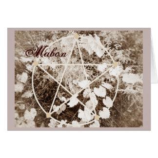 Wild Mabon Autumn Equinox Pentacle Sepia* Greeting Card
