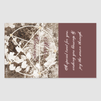 Wild Mabon Autumn Equinox Pentacle Sepia Treat Bag Sticker