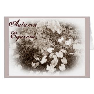 Wild Mabon Autumn Equinox Sepia Greeting Card