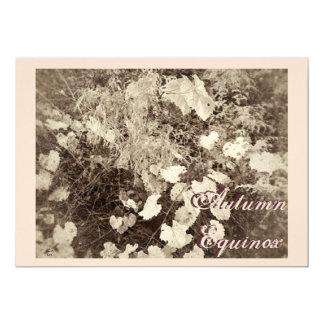 "Wild Mabon Autumn Equinox  Sepia 5"" X 7"" Invitation Card"