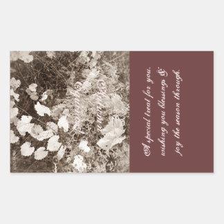 Wild Mabon Autumn Equinox Sepia Treat Bag Rectangular Sticker