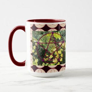 Wild Mabon Pentacle/Triquetra Bkgd Mug