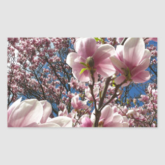 Wild magnolia 02 rectangular sticker