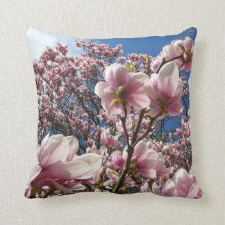 Wild magnolia (Spring, pink, Tulpenbaum) Throw Pillow
