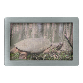 Wild Man Snapping Turtle Belt Buckle