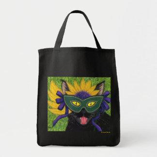 Wild Mardi Gras Cat Party New Orleans Mask Art Bag