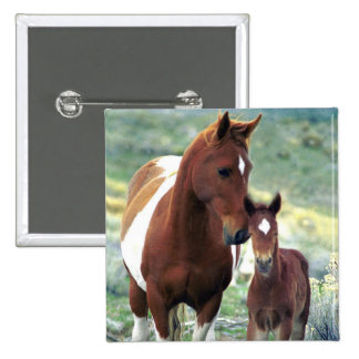 Wild Mare and Foal Button