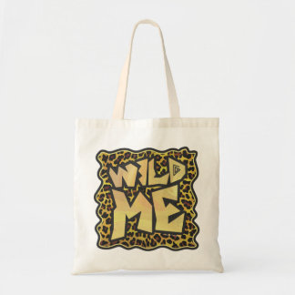 Wild Me Leopard Brown and Yellow Print Tote Bag