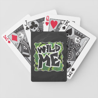 Wild Me Snake Black and Green Print Bicycle Playing Cards