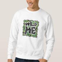 Wild Me Snake Black and Green Print Sweatshirt