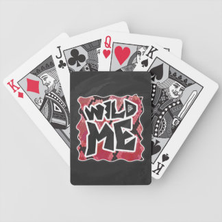 Wild Me Snake Black and Red Print Bicycle Playing Cards