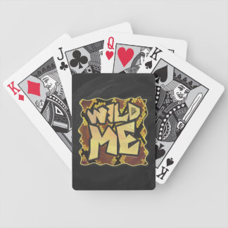 Wild Me Snake Brown and Gold Print Bicycle Playing Cards