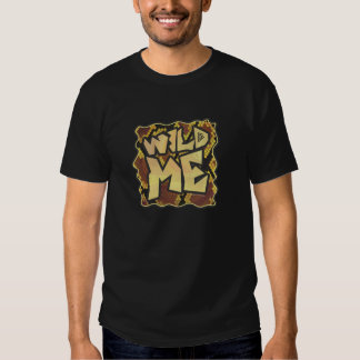 Wild Me Snake Brown and Gold Print T Shirts