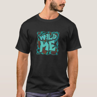 Wild Me Snake Brown and Teal Print T-Shirt