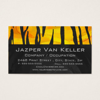 Wild Me Tiger Orange and Black Business Card