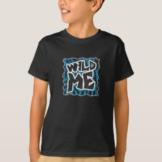 Wild Me Zebra Black and Blue T-Shirt