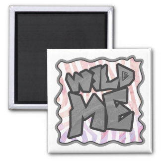 Wild Me Zebra Pink and White Magnet