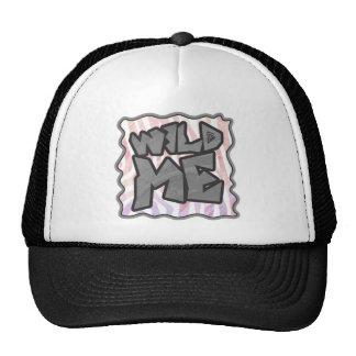 Wild Me Zebra Pink and White Trucker Hat