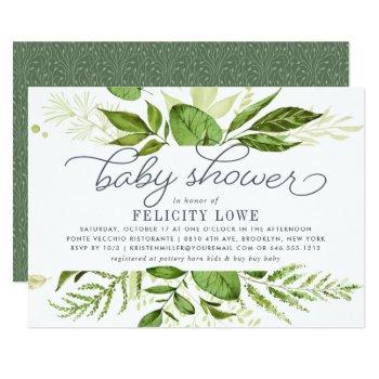 Wild Meadow Baby Shower Invitation by RedwoodAndVine at Zazzle